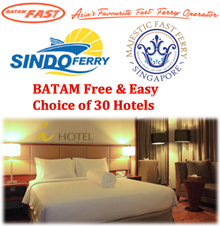 Batam - 2D1N FREE N EASY / TOUR Hotel BatamFast Majestic Ferry 2 Way Ticket - Nagoya Baloi Gideon