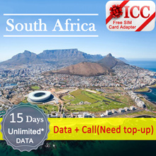 ◆ ICC◆【South Africa Sim Card· 15 Days】❤ 4G LTE/3G + Unlimited data + call ( NEED TOP-UP)❤