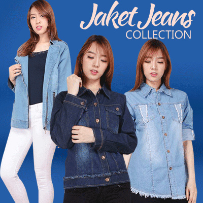 JAKET JEANS COLLECTION Deals for only Rp70.000 instead of Rp70.000