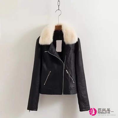 新型欧米取り外し可能毛襟の毛皮のコート ジャケット ヴィンテージ調 かわいい フェックファー 大人気