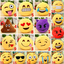 6 &amp quot  Emoji Smiley Emoticon Round Cushion Ornament Stuffed Plush Soft Toy