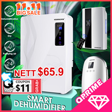 ⚡11.11 PROMO⚡2.2L Smart Dehumidifier Air Purifier Intelligent Humidistat Touch Panel Remote Control