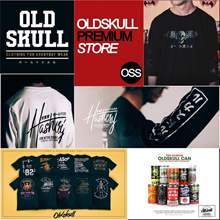 OLDSKULL PREMIUM STORE. LIMITED EDITION. 100% COTTON. FREE LIMITED EDITION TINS FOR SELECTED DESIGNS