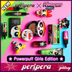 [Peripera] [Powerpuff Girls Edition] Ink Lasting Pink cushion/Tap tap eye shadow/ Peris Ink Velvet / Peris Ink Stick Moist/ Blackcara /Hand cream set 3pcs