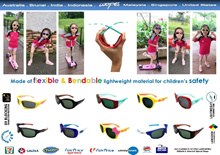 Kids Genuine Eye Protection . Polarized Sunglasses with UV400 100% Protection . Bendable Quality Material For Children Safety . Local Warranty . Singapore Brunei Malaysia Australia US Phillipines