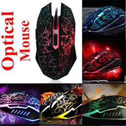 Optical USB Gaming Mouse 2000DPI Wired Mice