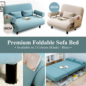 NEW ARRIVAL!!! Premium Foldable Sofa Bed/Simple HDB Condo Living Room Office Furniture Economical