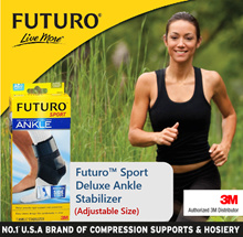 3M FUTURO™ Sport Deluxe Ankle Stabilizer / Ankle Guard / Compression Stabiliser / Sprain / Strain
