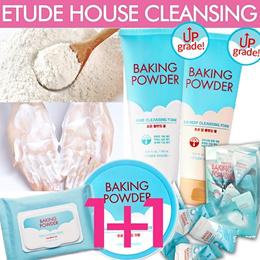 [ETUDE HOUSE]★1+1 Cleansing Foam★Baking Powder/AC Clinic/Moistfull Collagen/Happy Cleansing Foam