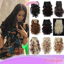 Hair Clip Hair Extensions 7Pcs Set Straight Wavy Curly Clip In Long Hair