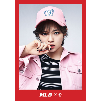 TWICE x MLB 2017 SS Collection Twice Jung Yeon Flame One Point NY Cap 863f6562c10