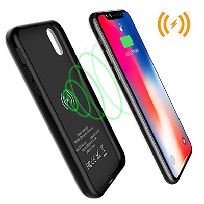 promo code 33d92 c16c9 [ALLEASA] iPhone X Battery Case with Qi Wireless Charging, 3000mAh  Rechargeable Extended Protective