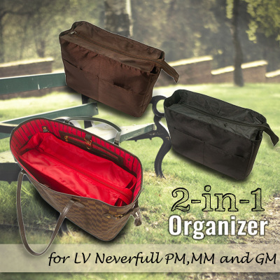b9d52214af87 Qoo10 - 2-in-1 Organizer for LV Louis-Vuitton Neverfull PM MM and GM ...