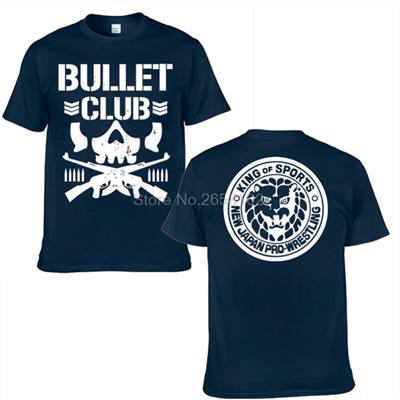 fc123ae930592 wholesale NEW Bullet Club Japan Pro Wrestling Puroresu T Shirt Mens Njpw 2  Side Black T