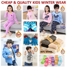 [ORTE] Kids Thermal Wear Gloves Beanie★Winter Socks★Gloves★Neck Warmers★Winter Down Jacket★Fast Del
