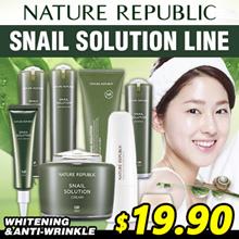 [NATURE REPUBLIC] Snail Solution Line / Cleanser / Booster / Emersion / Essence / Cream / BB Cream
