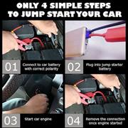 Car Jump Starter Powerbank 10000MAH(BLACK)