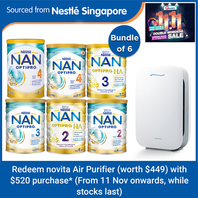 NANBundle of 6 [Nestle] Nan Growing up Milk / Follow-up Formula x 6tins - H.A2/3 / Optipro2/3/4