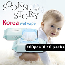 ◆ Korea Wet Wipe ◆ SoonSu Story  / wet wipes / baby wipes /  Safe for baby / High quality /