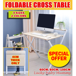 【2017 New】Foldable table / computer laptop study desk/CROSS PC TABLE