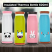 Botol Minum Lucu Cute Thermos Colourful Insulated Milk Water Bottle 500ml