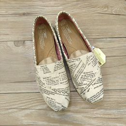 toms summer college wind stripe Canvas shoes pedal lazy shoes fisherman shoe harajuku Flats Casual w