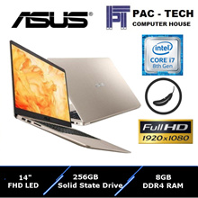 Asus Vivobook S (S410UA-EB247T)/i7-8th Gen/FHD/8GB RAM/256GB SSD/1 Year Manufacturer Warranty