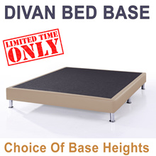DIVAN BED BASE * Metal Legs * Color Choice * Free Delivery * Single   S.Single   Queen   King size