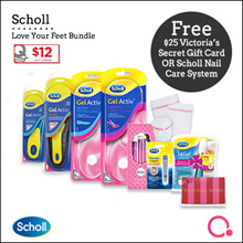 [RB]【FREE $25 VS gift card!】4 x Scholl insoles – I Love my feet Bundle (7 items)