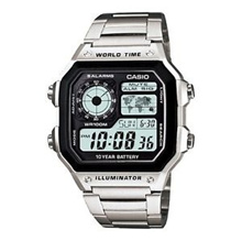 2012 LATEST CASIO AE-1200WHD-1A DIGITAL WORLD-TIME MEN S SPORTS ALARMS WATCH NEW