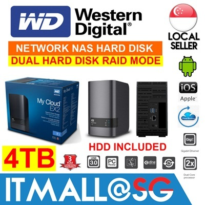 Qoo10 - WD 4TB My Cloud EX2 PERSONAL/OFFICE NAS Cloud