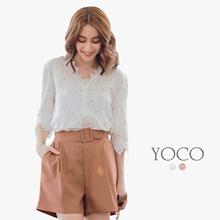 YOCO - Dandelion Lace Blouse-180223
