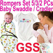 ★Baby Rompers Set / Swaddle Infant Wrap Sleeping Bag★ 2018 Pre-GSS Sale 80% Off