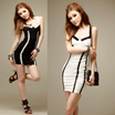 KTV Nightdress Clothing Black White Y1150