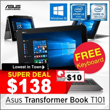 [Open Box/Demo Set] Asus Transformer Book T101H / T100H / 10.1inch // 2GB + 32GB // Wonderful deal