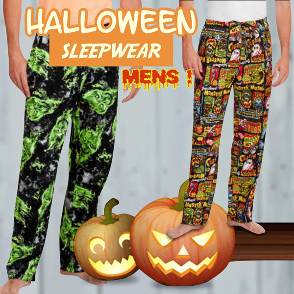 New Halloween Edition! Pajamas Sleep Wear For Men Deals for only Rp55.000 instead of Rp55.000