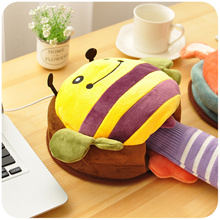 【NEW】Thick winter heating electric heat warm plush usb Hand Warmer mouse pad with wrist mouse comput