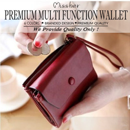 10c0ad60a2b0  FREE QXPRESS Premium Wax Oil PU Leather Short Wallet   Coin Pouch   Long