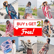 1ed400d9914e ☆Buy1Get2☆ New Arrival Fashion Scarf Traditional Pattern Stylish Scarf  Silket Silky Cotton Beach