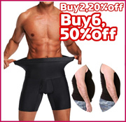 Mens high-waist corset shorts, plastic waist boxer briefs, mens abdomen shaping pants