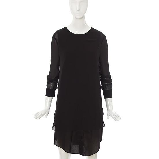 バレンシア女性衣類シフォン配色ワンピースV47MO51 シフォン/レース/フリル/ 韓国ファッション