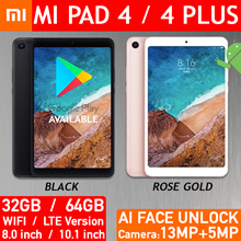 Xiaomi Mi Pad 4 / Plus 8.0 / 10.1 inch Android Tablet WIFI / 4G LTE 13MP AI Face Unlock GooglePlay