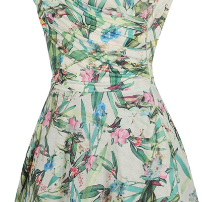Oxiuly Plus Size Bamboo Leaf Floral Print Ruffle V Neck Dress Short Sleeve  Knee Length Ladies 6db43926a