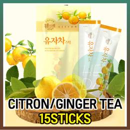 Korean Citron Tea 15 sticks/Honey Ginger Tea Portion/Yuja Tea/Capsule/Health/Honey Jujube Tea