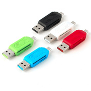 2 in 1 USB Micro USB OTG SD TF Card Reader For Redmi Note 4 4x Samsung S7 edge Tablet PC