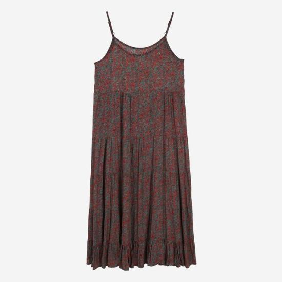 エッコノフラワー・パターン、袖なしのワンピースATDR7B525 面ワンピース/ 韓国ファッション