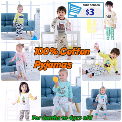 No additional price add 100% Cotton Toddler Baby Kids Pyjamas Pajamas Boys  Girls 0288a0ebf