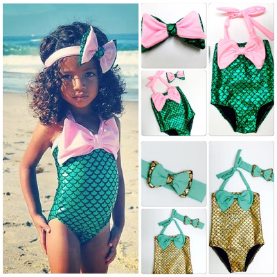 cb18d30f7c04 Hot Baby Girls The Little Mermaid Swimwear Swimsuit Bikini Set Summer Beach  Wear