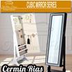 KACA / CERMIN RIAS Cubic Mirror [WHITE/BLACK]
