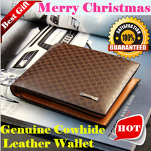 Christmas Gift 2016 Fashion Style Genuine Leather Wallets for Men and Ladies/ Fast Delivery /Top Quality /Lowest Price